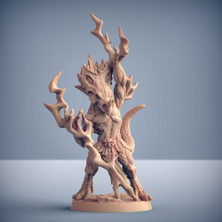 Kaztot - Lagartos da Mandíbula Dourada - Miniatura Artisan Guild