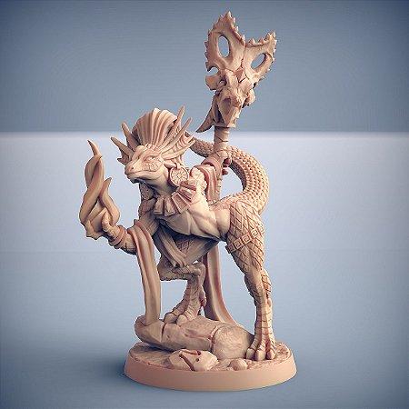 Coaxoch - Lagartos da Mandíbula Dourada - Miniatura Artisan Guild