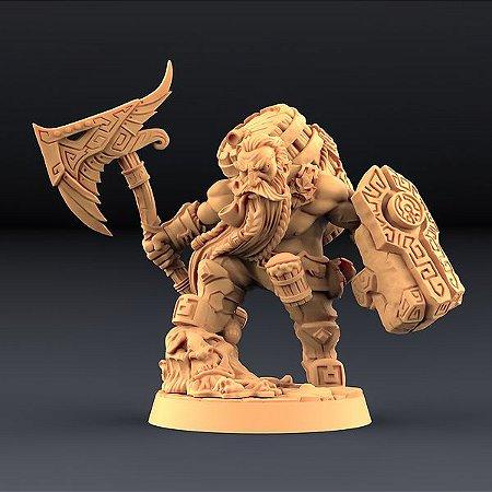 Gino, Mestre Cervejeiro - Perjuradores Anões - Miniatura Artisan Guild