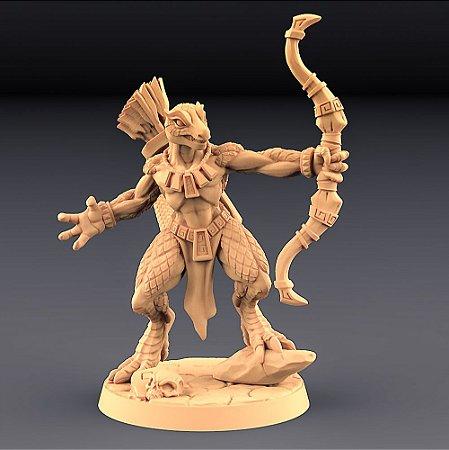 """Lagarto """"F"""" - Lagartos da Mandíbula Dourada - Miniatura Artisan Guild"""