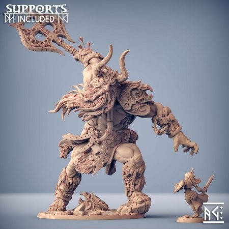 Hulgfnir, Campeão Jotunn - Chefe Épico - Miniatura Artisan Guild