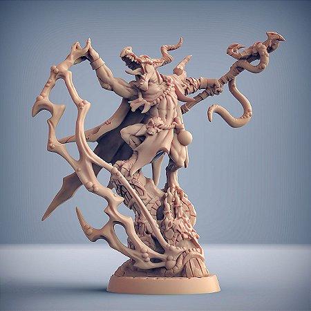 Kornutaaz, o Pragomante - Kobolds da Mina da praga - Miniatura Artisan Guild