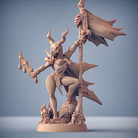 Ishtarra, Rainha da Praga - Kobolds da Mina da Praga - Miniatura Artisan Guild