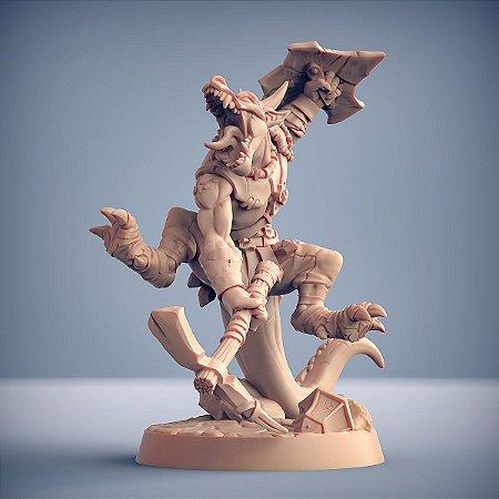 """Kobold """"B"""" - Kobolds da Mina da Praga - Miniatura Artisan Guild"""