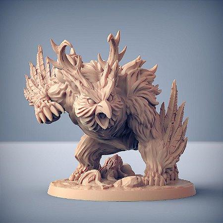 Uldar, Besta Druídica - Elfos da Mata Profunda - Miniatura Artisan Guild