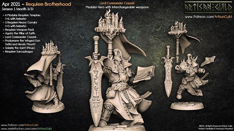 Lorde Comandante Casymir - Irmandade do Réquiem - Miniatura Artisan Guild