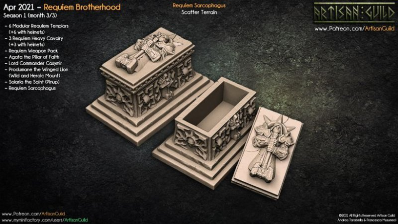 Sarcófago do Réquiem - Peça de terreno - Artisan Guild