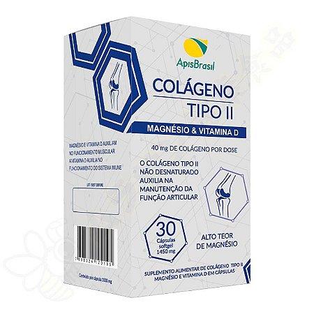 Colágeno Tipo 2 com Magnésio & Vitamina D 1450mg Softgel c/30 - Apis Brasil