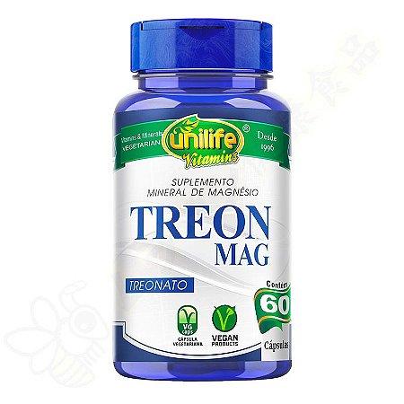 Treon Mag Magnésio L-Treonato Blend em cápsulas c/60 - Unilife