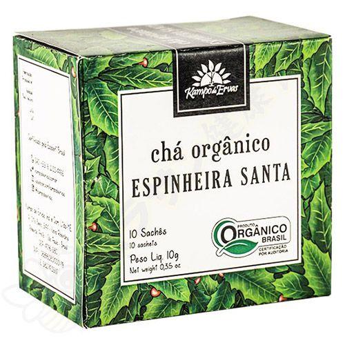 Chá de Espinheira Santa Orgânico sachês c/10 10g - Kampo de Ervas
