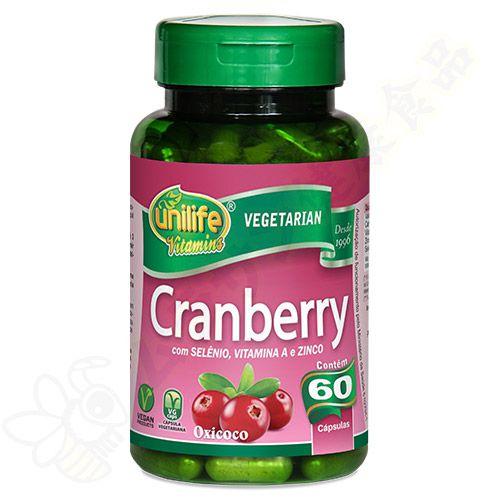 Cranberry em cápsulas c/60 - Unilife