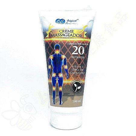 Creme Massageador com 20 Extratos e Neen e Sebo de Carneiro 200g - Original Cosméticos
