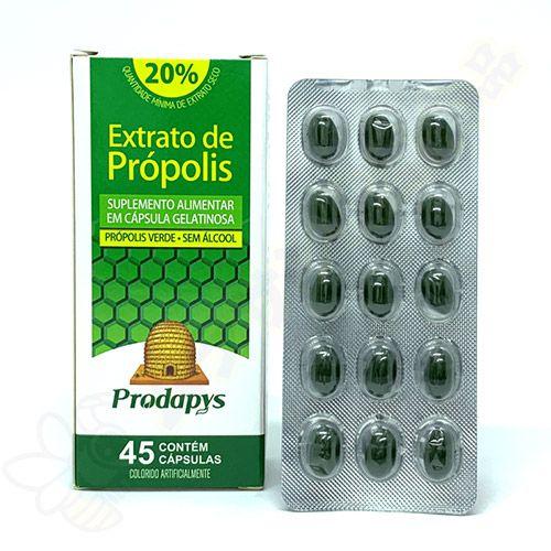 Extrato de Própolis Verde em Cápsulas c/45 - Prodapys