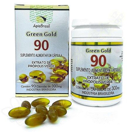 Extrato de Própolis Verde Green Gold 90 em Cápsulas c/90 - Apis Brasil