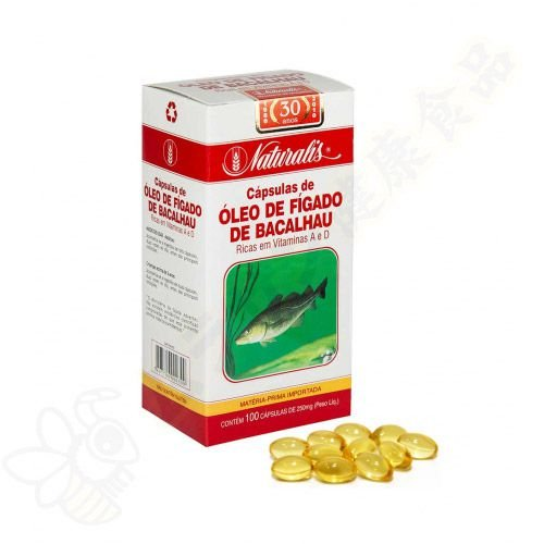 Óleo de Fígado de Bacalhau 100 Cápsulas - Naturalis