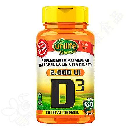 Vitamina D3 2000UI 470mg c/60 - Unilife