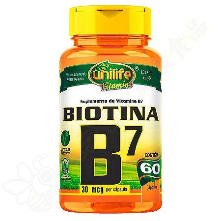 Vitamina B7 Biotina c/60 - Unilife