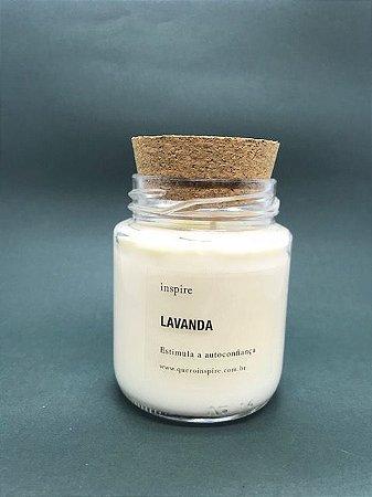 Vela Perfumada de Lavanda (Pote com tampa de cortiça M)