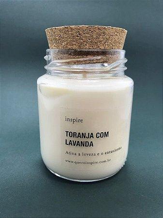 Vela Perfumada de Toranja com Lavanda (Pote com tampa de cortiça M)
