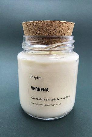 Vela Perfumada de Verbena (Pote com tampa de cortiça M)