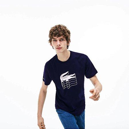 Camiseta Lacoste Marinho