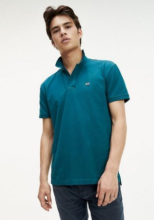 Polo Tommy Jeans Regular Chumbo