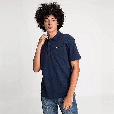 Polo Tommy Jeans Regular Azul Marinho