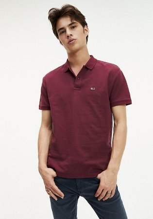 Polo Tommy Jeans Regular Bordô