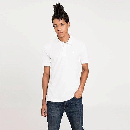 Polo Tommy Jeans Regular Branco