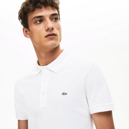 Polo Lacoste Slim Fit Stretch Branca