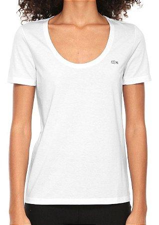 Camiseta Lacoste Feminina Branca