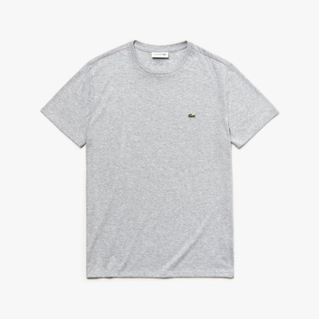 Camiseta Lacoste Regular Fit Cinza Mescla