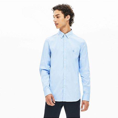 Camisa Lacoste Slim Fit Azul Claro