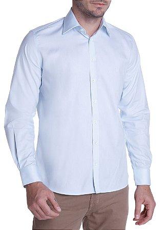Camisa Dudalina Slim Maquinetada Azul Claro