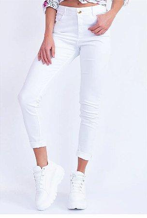 Calça Bana Bana Feminina Penélope Skinny Branca