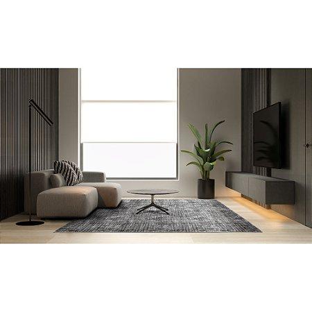 Tapete Sala / Quarto / Esplendor 04 Cinza Macio e Confortável - Edantex