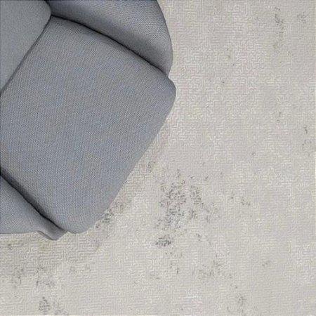 Tapete Sala / Quarto / Spazio / 310 /  Gelo Cinza Creme Resistente e Confortável