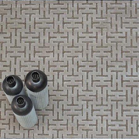 Tapete Sala / Quarto / Modern Art 260 Bege Alto Relevo e Confortável - Zinihome
