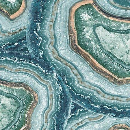 Rolo de Papel de Parede Minerals TNT Azul Esverdeado - 10,05 x 0,53m