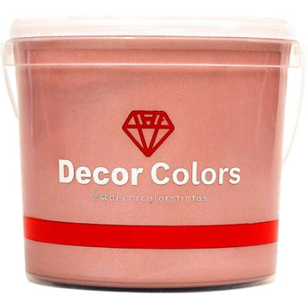 Cimento Aveludado Diamantado Rose Gold 3,2 kg - Decor Colors