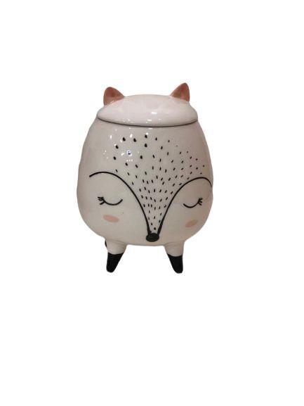 Potiche Decorativo Cerâmica Lobinho