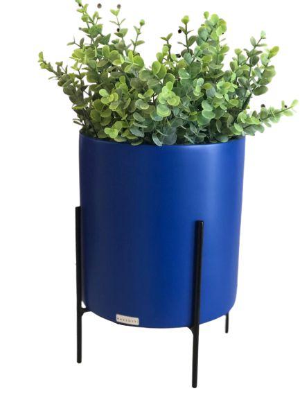 Vaso Azul com suporte 75430