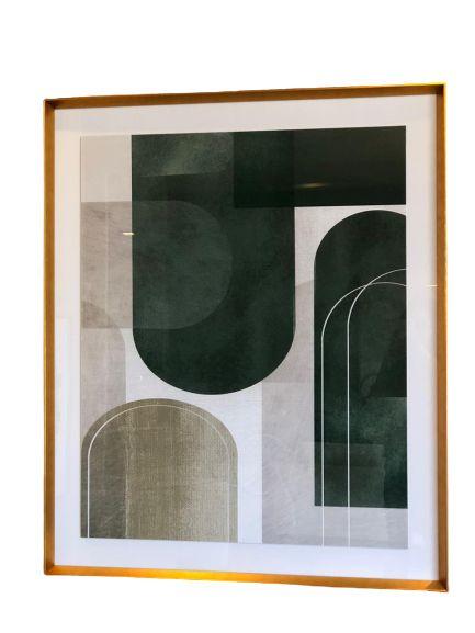 Quadro Abstrato Verde 071