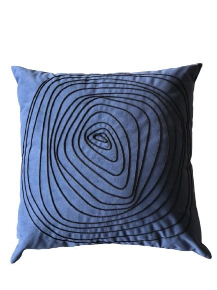Almofada Azul Marinho Cordinhas 001|  52x52
