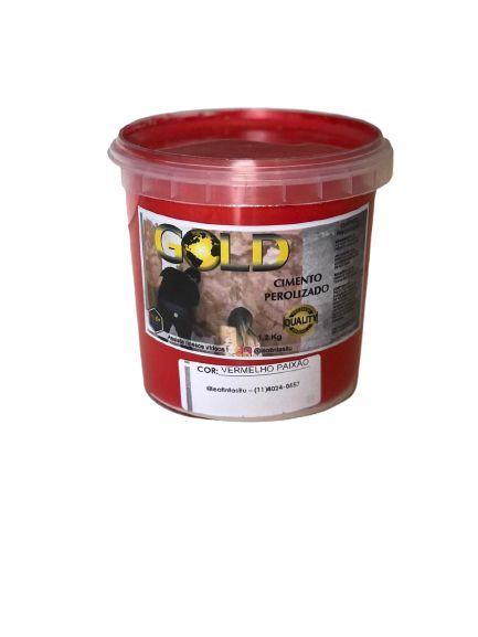 Cimento Queimado Perolizado Vermelho Paixão 1.2KG