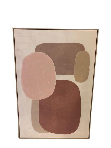 Quadro Decorativo Com Pintura Abstrato 34501