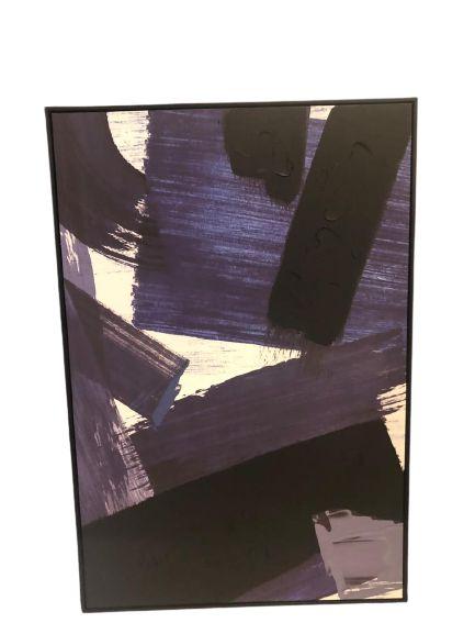 Quadro Decorativo Com Pintura Abstrato 34506