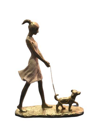 Menina Com Pet Decorativo 257-205