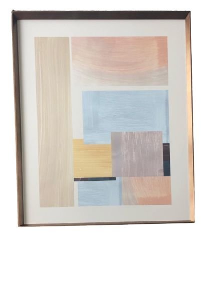 Quadro Decorativo Com Pintura Abstrato Q8245R
