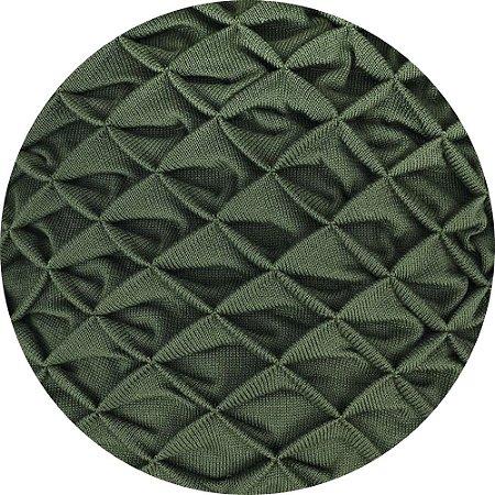 Manta De Tricô Origami Verde 050-05 - 0,90 x 2,20